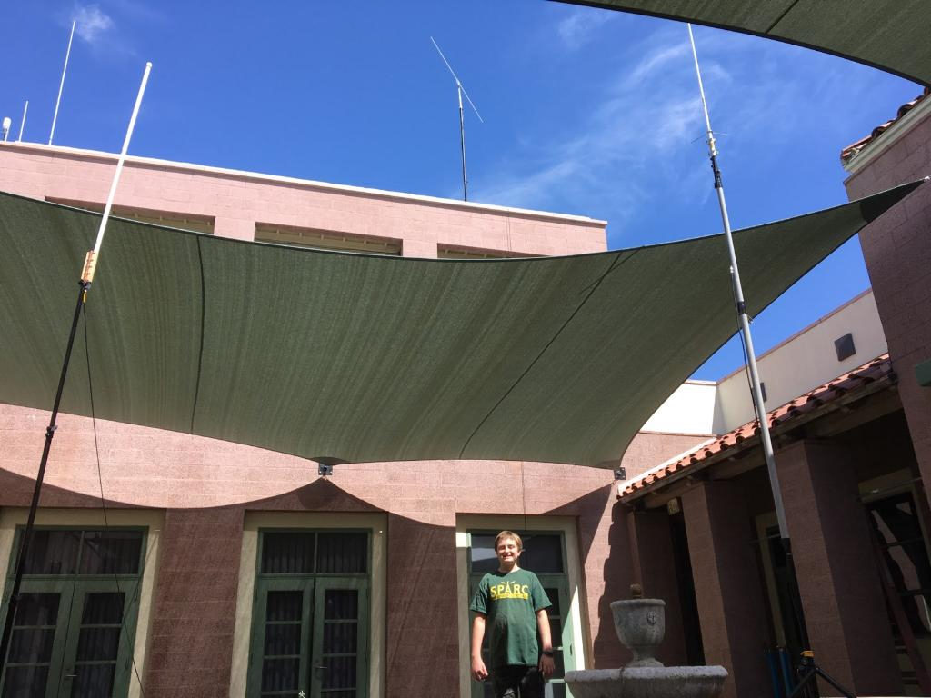 Antennas in Courtyard